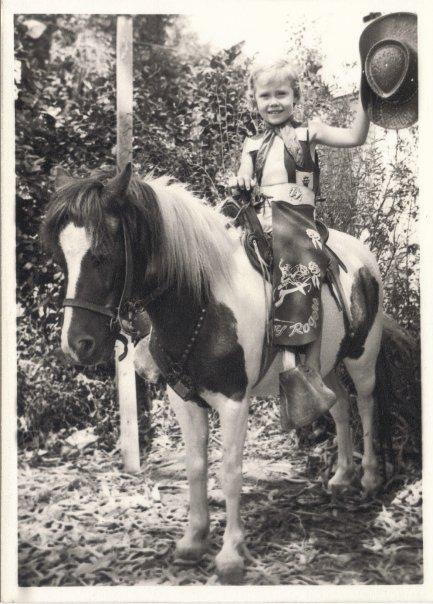 Susan Foster on a pony